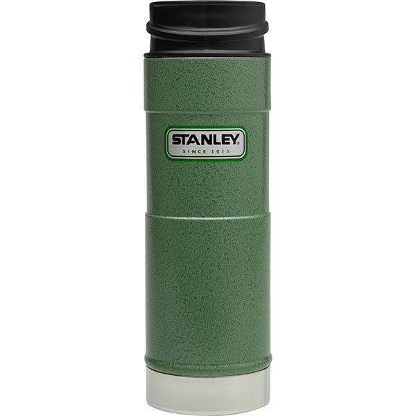 ├登山樂┤ 美國 Stanley 經典系列 單手保溫咖啡杯 0.47L-錘紋綠 # 10-01394-GN 0