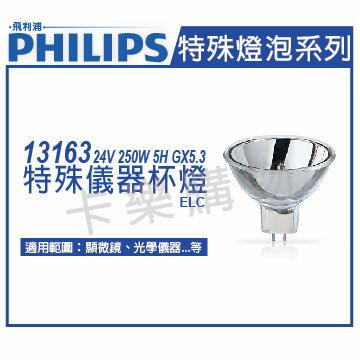 PHILIPS飛利浦 13163 24V 250W 5H GX5.3 ELC 特殊儀器杯燈  PH020040
