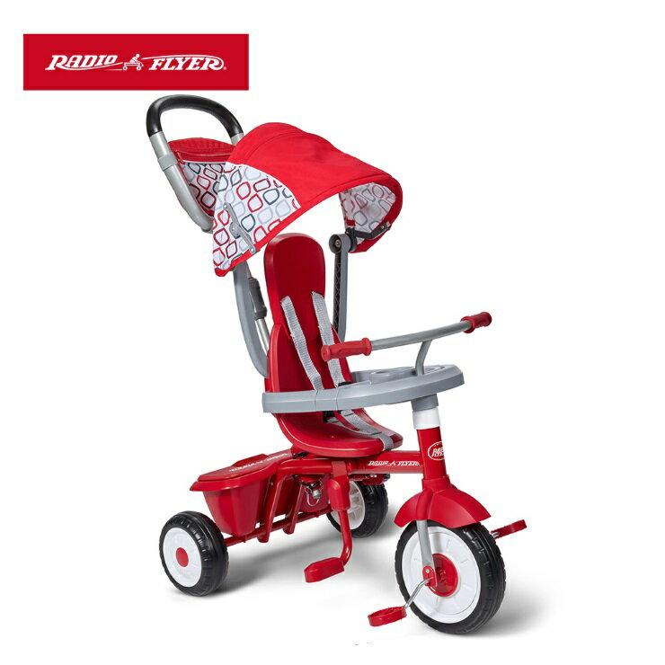 【寶貝樂園】美國Radio Flyer 紅蜻蜓四合一折疊三輪推車