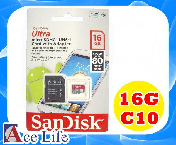 ~九瑜科技~Sandisk 16G 16GB Class10 C10 micro SD S