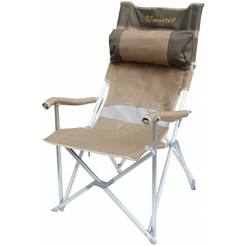 大川椅/露營椅/折疊椅/大川休閒椅 附頭枕 100mountain mt-ch001K 卡其