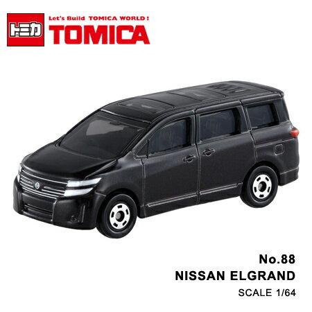日貨 TOMICA No.88 NISSAN ELGRAND 日產 真車系列 汽車模型 多美小汽車【N201359】