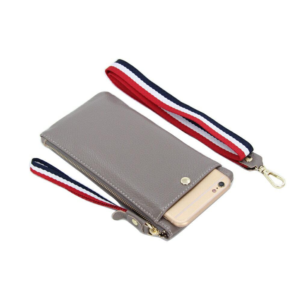 手拿包真皮手機包-薄款純色牛皮掛脖女包包4色73wz41【獨家進口】【米蘭精品】 0