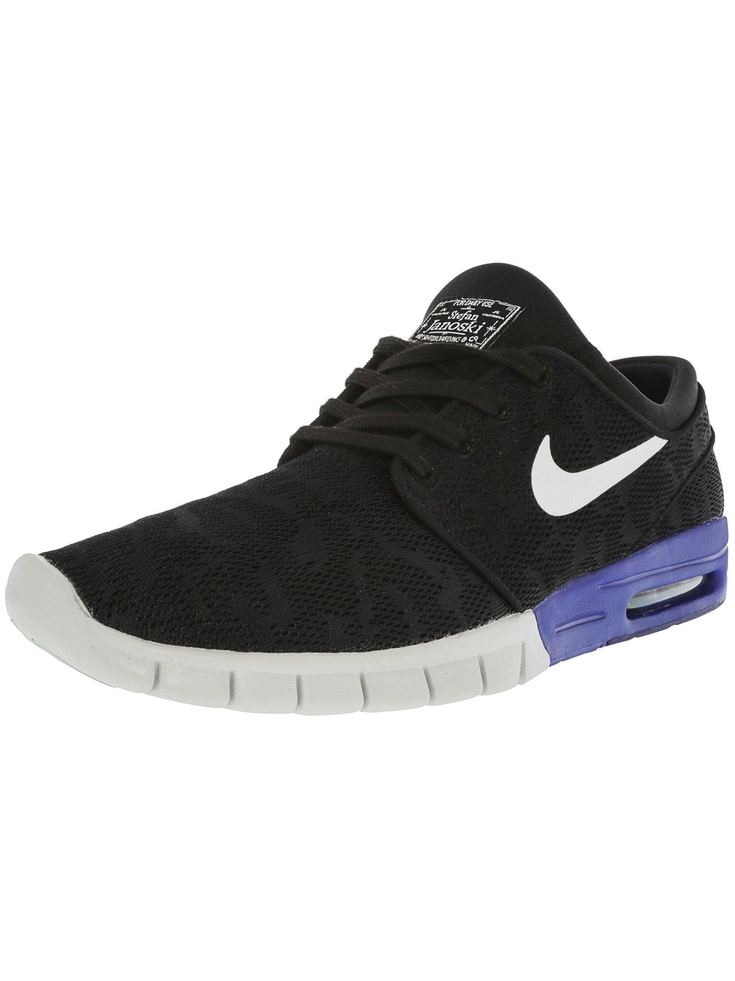 d4157bbf3d91 Nike Men s Stefan Janoski Max Black   White-Deep Night Ankle-High Running  Shoe