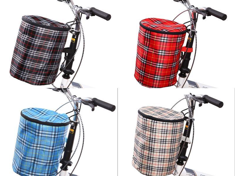 【珍愛頌】B115 加蓋款 自行車車籃 活動置物籃 布籃 車筐 車簍 掛車包 前掛包 車把掛車包 單車 小折 非馬鞍包