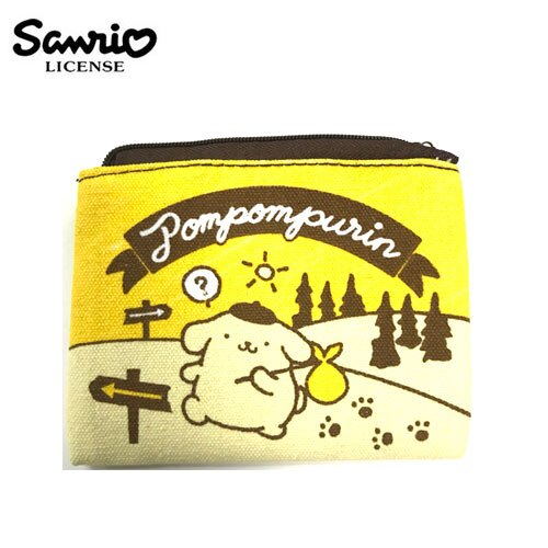 【日本正版】布丁狗 Pom Pom Purin 帆布 零錢包 卡片包 小物收納 三麗鷗 Sanrio - 443740