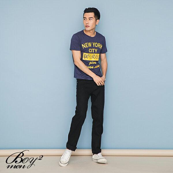 ☆BOY-2☆【OE10607】韓版休閒文字NEW YORK CITY型男短袖T恤 2