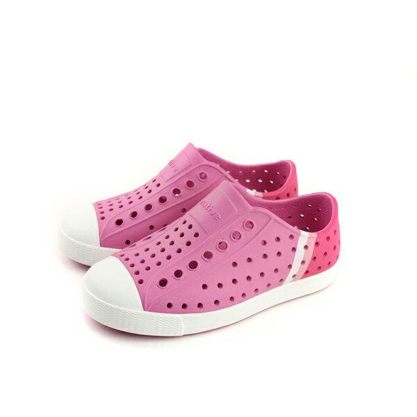 nativeJEFFERSONBLOCK懶人鞋洞洞鞋防水雨天粉紅色小童童鞋13100102-8504no701