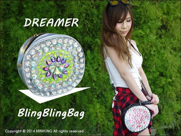 ∥配件王∥現貨 泰國代購 曼谷包 亮鑽包 鑽石包 Dreamer blingbling bag 手工包 小圓包 非 bkk gaga