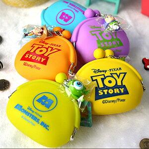 ∥配件王∥皮克斯 正版 迪士尼 珠釦矽膠零錢包 吊飾 毛怪 怪獸大學 玩具總動員 巴斯光年