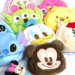 【配件王】Disney 迪士尼 大臉絨毛零錢包 相機包 化妝收納包 米奇 奇奇蒂蒂 妙妙貓 屁桃 邦妮兔