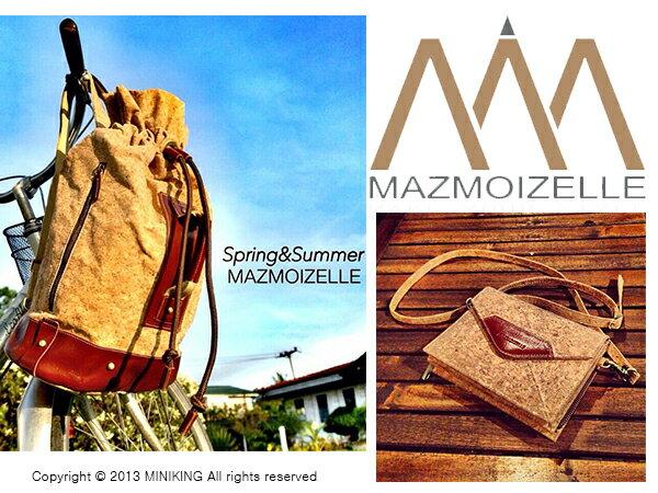 ∥配件王∥泰國包 進口 mazmoizelle 軟木塞 設計款 包包 斜背包 後背包 筆電包 另售 BKK gaga包