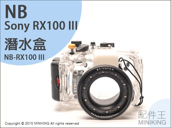 【配件王】現貨 NB 公司貨 Sony RX100 M3 一代 二代 三代 潛水盒 相機防水 潛水殼 潛水罩浮潛 防水殼