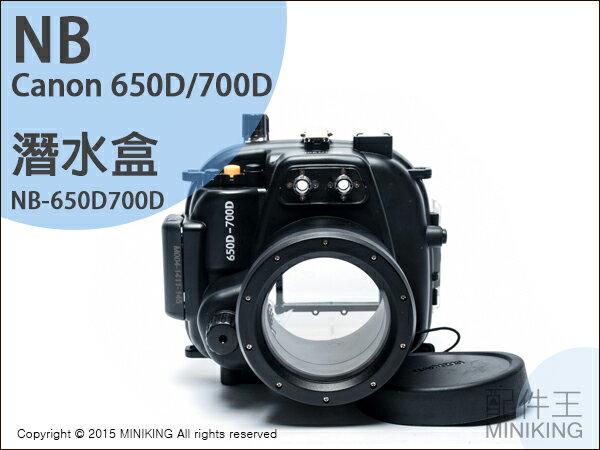 【配件王】現貨 NB公司貨 Canon 650D/700D 潛水盒 相機防水 潛水殼罩 浮潛 潛水罩 游泳/衝浪/溯溪