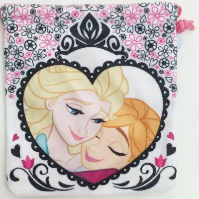 冰雪奇緣 Frozen 艾莎 ELSA 安娜 ANNA 絨布 收納袋 束口袋 居家 正版日本授權 JustGirl