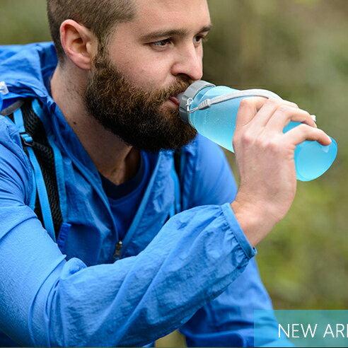軟水壺杯折疊水壺 戶外旅遊 大容量便攜軟水袋 騎行登山飲水袋^(500ML^)~庫奇小舖~
