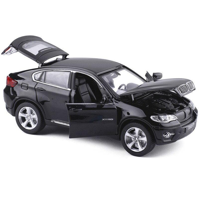 ╭。BoBo媽咪。╮盒裝 美致模型 1:32 寶馬 BMW X6 聲光回力車