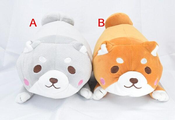 X射線【C344688】28cm大尾丸犬,絨毛填充玩偶玩具公仔抱枕靠枕娃娃