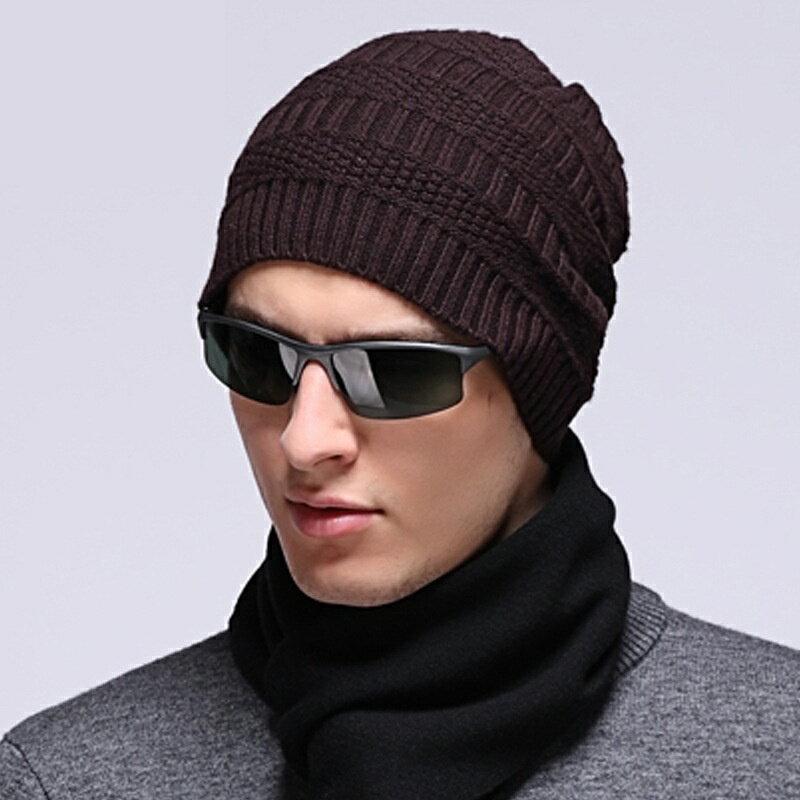 毛帽羊毛針織帽-純色休閒保暖護耳男帽子3色73wj49【獨家進口】【米蘭精品】 0