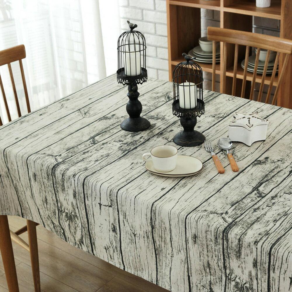復古木紋 桌巾-140x180cm 2