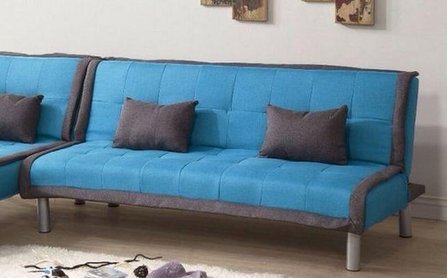 !新生活家具!《奶油滾邊》北歐風 沙發床 亞麻布 3人座沙發 沙發套 藍色 三人位沙發床 可拆洗 非 H&D ikea 宜家