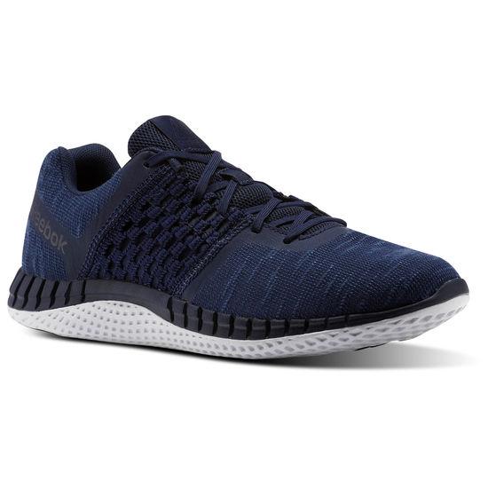 REEBOKPRINTRUNDIST男鞋慢跑路跑編織輕量舒適基本款藍白【運動世界】CN1656