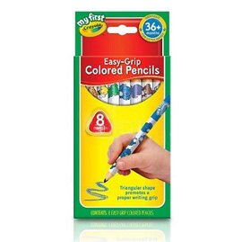 【悅兒樂婦幼用品舘】繪兒樂Crayola 幼兒三角彩色鉛筆8色