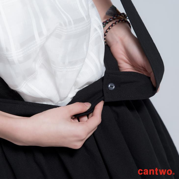 cantwo寬版吊帶短褲裙(共二色) 4