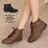 格子舖*【KDW9989】MIT台灣製 個性輕旅行 皮革素面側拉鍊綁帶式 粗低跟超舒適短靴 機車靴 2色 0