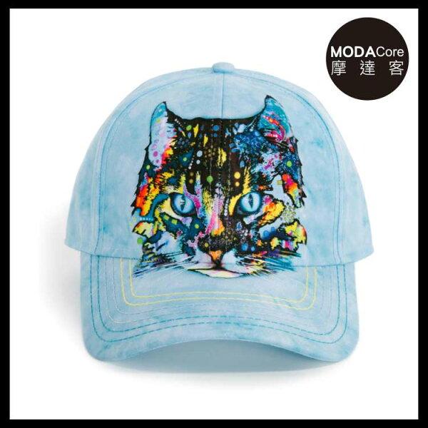 【摩達客】(預購)美國進口TheMountain藝術家DR系列彩繪迷幻貓棒球帽6-Panel六分割帽
