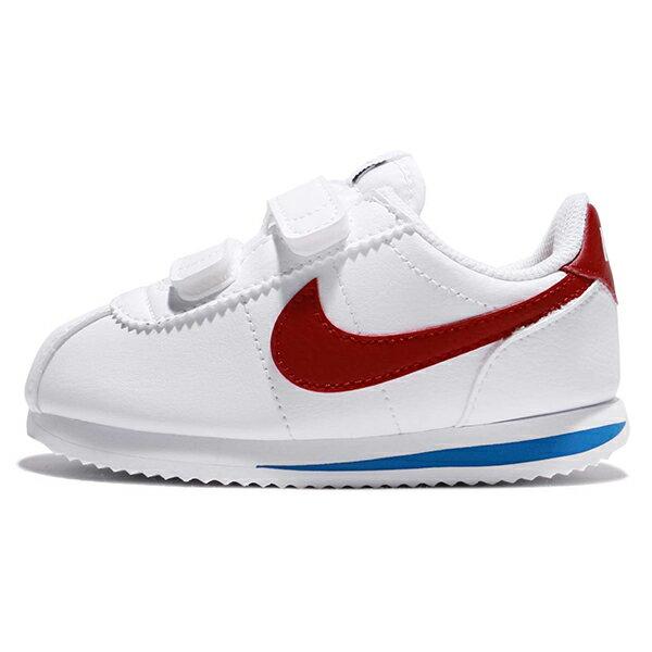 Shoestw【904769-103】NIKE CORTEZ BASIC TDV 阿甘鞋 皮革 黏帶 白紅藍 小童鞋 1