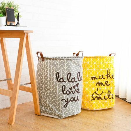 棉麻收納桶髒衣籃北歐風格防潑水髒衣桶衣物玩具收納居家收納籃收納桶【B063125】
