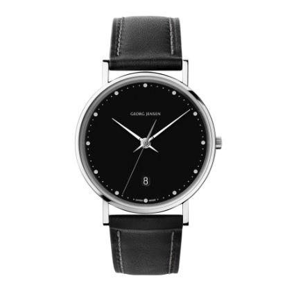 喬治傑生(GEORG JENSEN)-KOPPEL 418黑色錶盤經典腕錶38MM