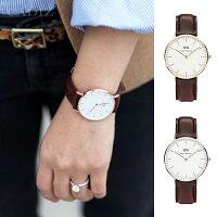 情人對錶推薦到【Cadiz】瑞典正品 Daniel Wellington 手錶 0511DW玫瑰金 0611DW銀 CLASSIC BRISTOL 深棕色皮革 蛋縠白錶盤 36mm 對錶 情侶錶 男女錶 兩年保固就在Cadiz代購精品推薦情人對錶