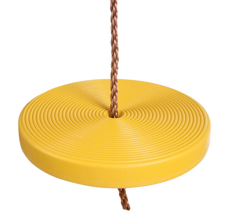Kids Play Toy Round Plate Swing Seat Yellow 0