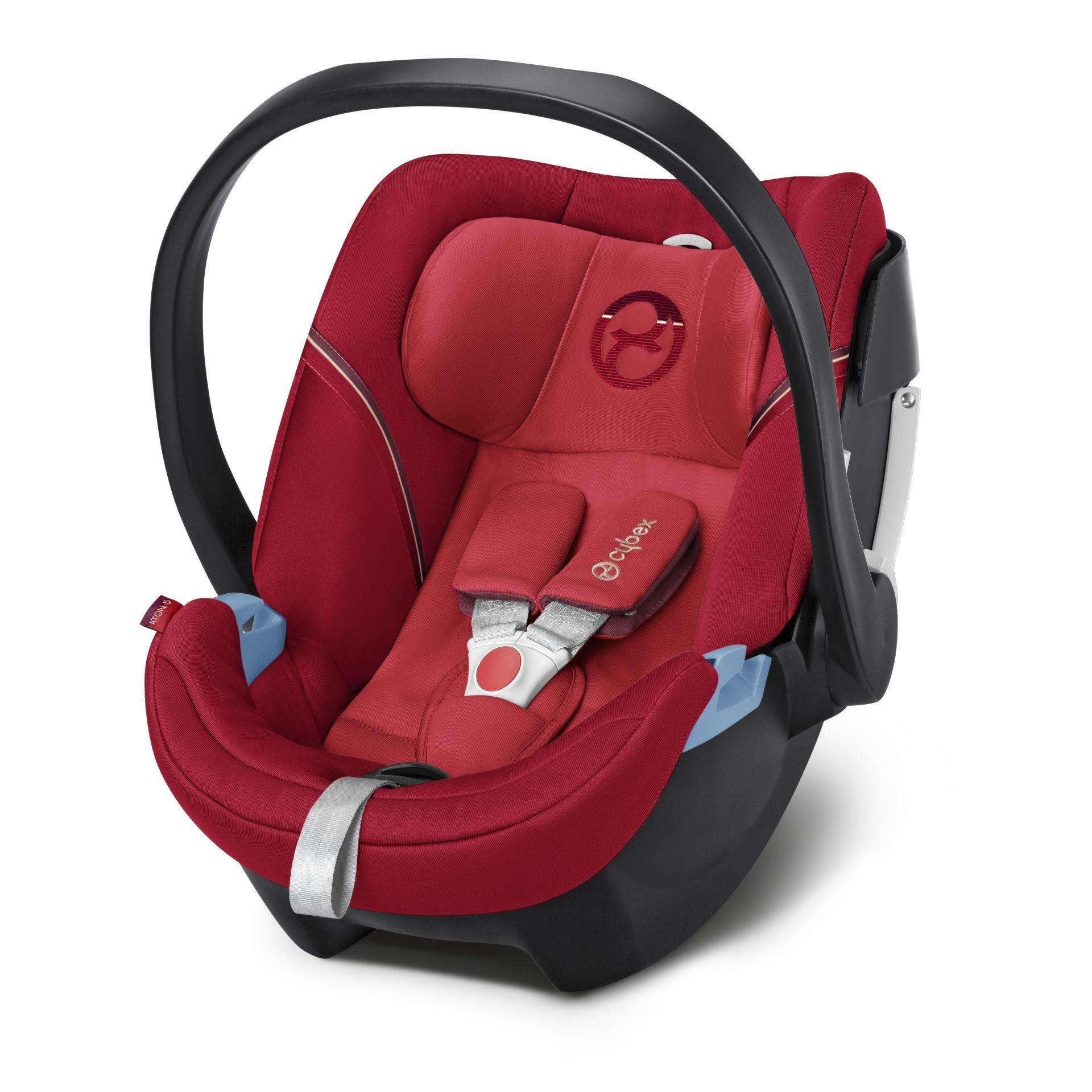 Cybex ATON 5 嬰兒提籃型安全座椅/ 嬰兒汽座- 艷火紅 INFRA RED