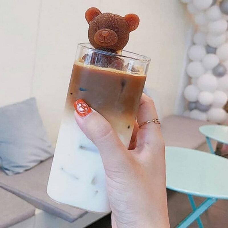 可愛小熊INS奶茶冰塊模具