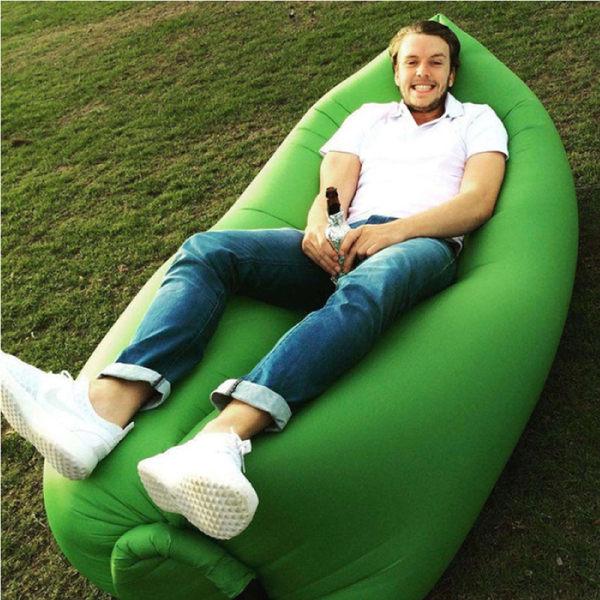 PS Mall 懶人沙發 多功能 充氣墊 快速充氣 氣墊床 懶人椅 沙發床 野餐 沙灘 充氣床【J1911】