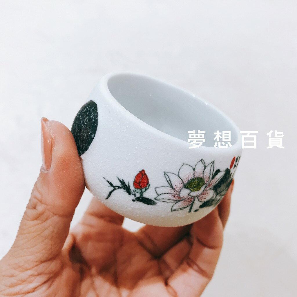 壺杯組 1壺6杯 含紙盒 陶瓷茶壺 茶杯 茶壺 單把茶壺 彩繪茶壺 荷花 (伊凡卡百貨)