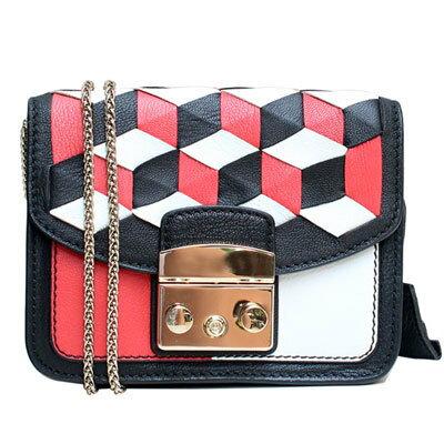 Outlet代購 歐美 FURLA 爆款塗鴉系列 紅色魔方 單肩小方包 單肩包 斜跨包 跑趴 多色可選