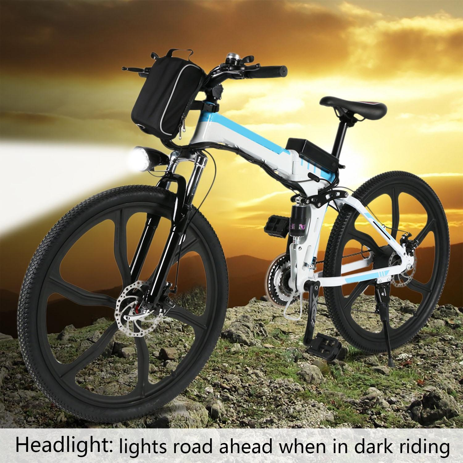 26inch 21 Speed Foldable Electric Power Mountain Bicycle Lithium-Ion Battery 2