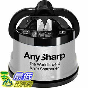[106美國直購] AnySharp Global Knife Sharpener with PowerGrip, Silver 銀色 磨刀器