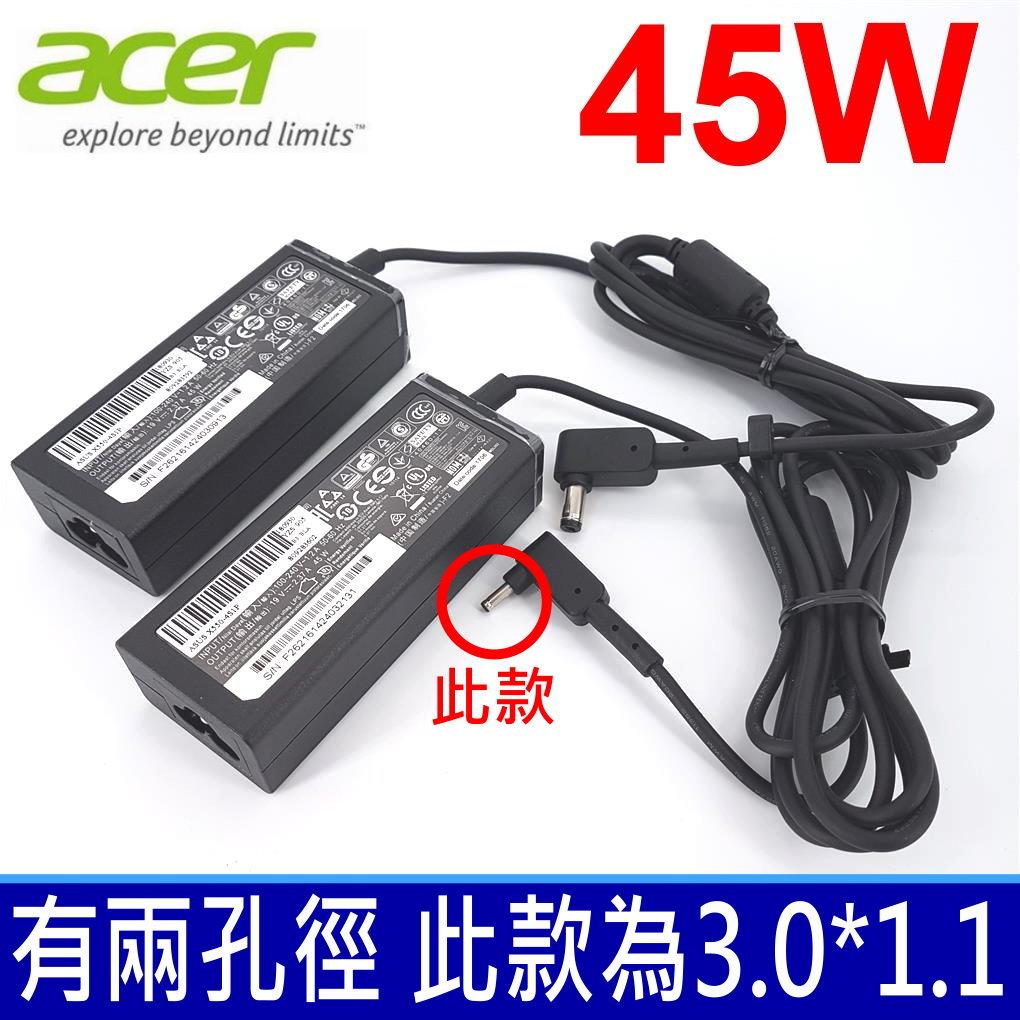筆電達人 ACER 充電器-宏碁 19V,  2.37A, 45W, S7-393, S5-371, S13 ADP-45ZD B ,  PA-1450-26, A13-045N2A N13-045...