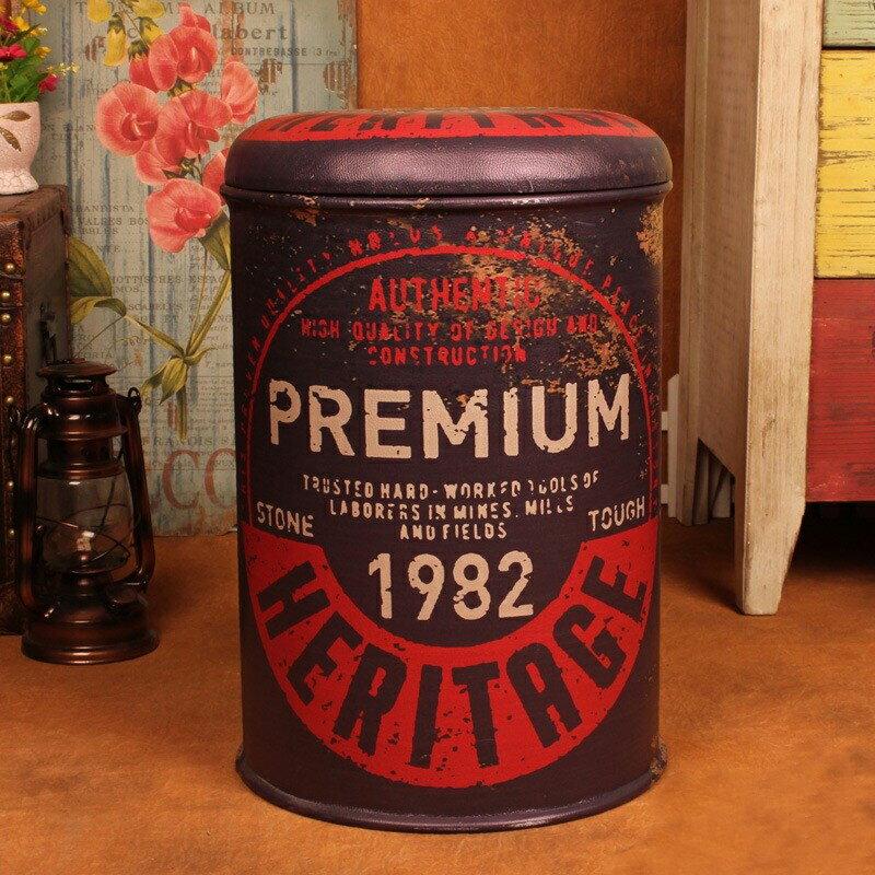 【新生活家具】《9 ball》1982 大收納椅 收納凳 復古 工業風 loft 汽油桶 鐵桶 仿古 美式復古風