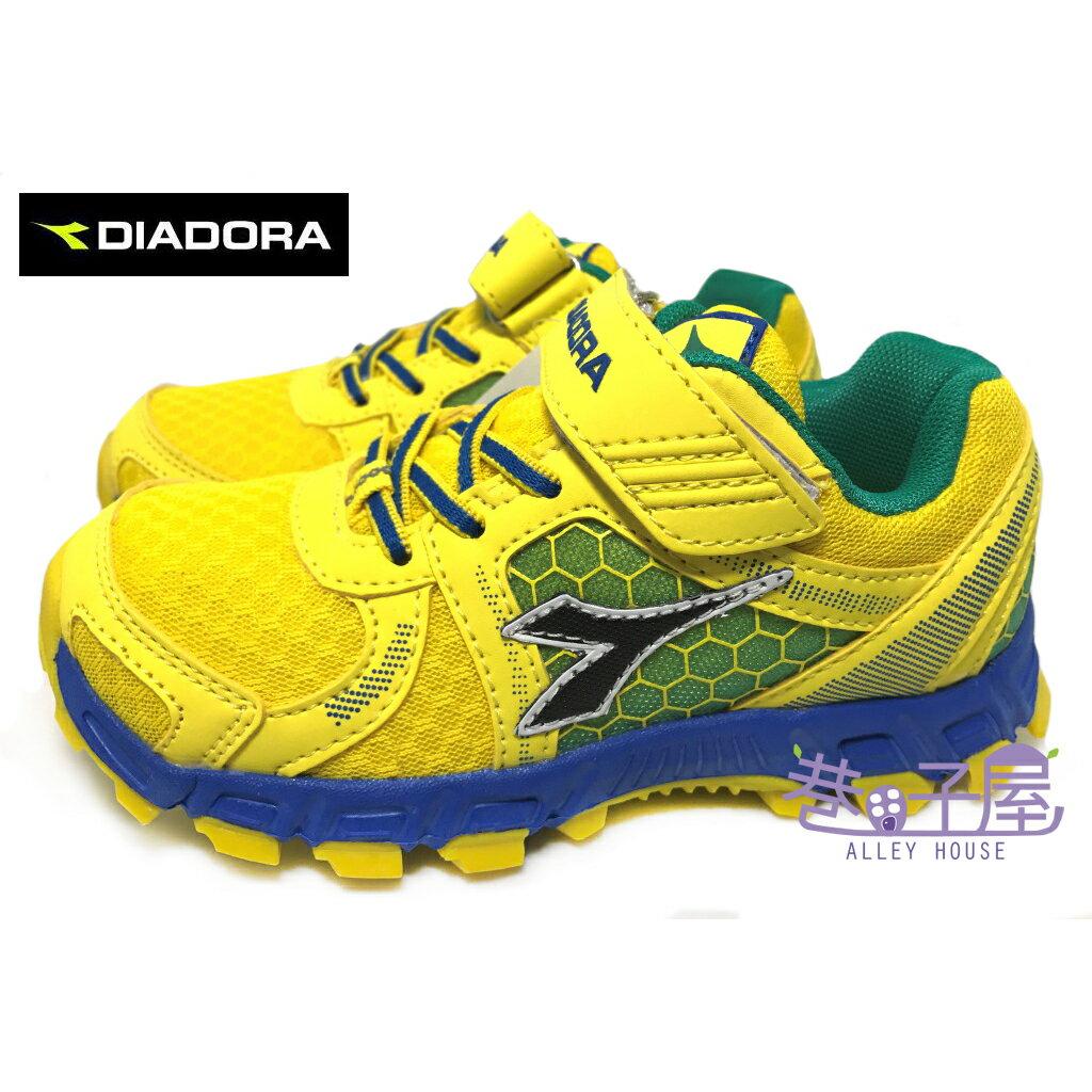 【巷子屋】義大利國寶鞋-DIADORA迪亞多納 童款4E寬楦戶外越野慢跑鞋 [2593] 黃 超值價$398