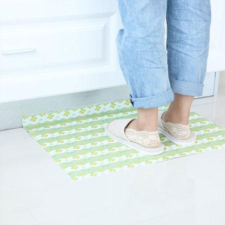 自黏式印花防滑墊 地墊 吸水墊 地墊貼 可水洗 可剪裁 廚房 浴室 客廳 居家 防滑【B063485】