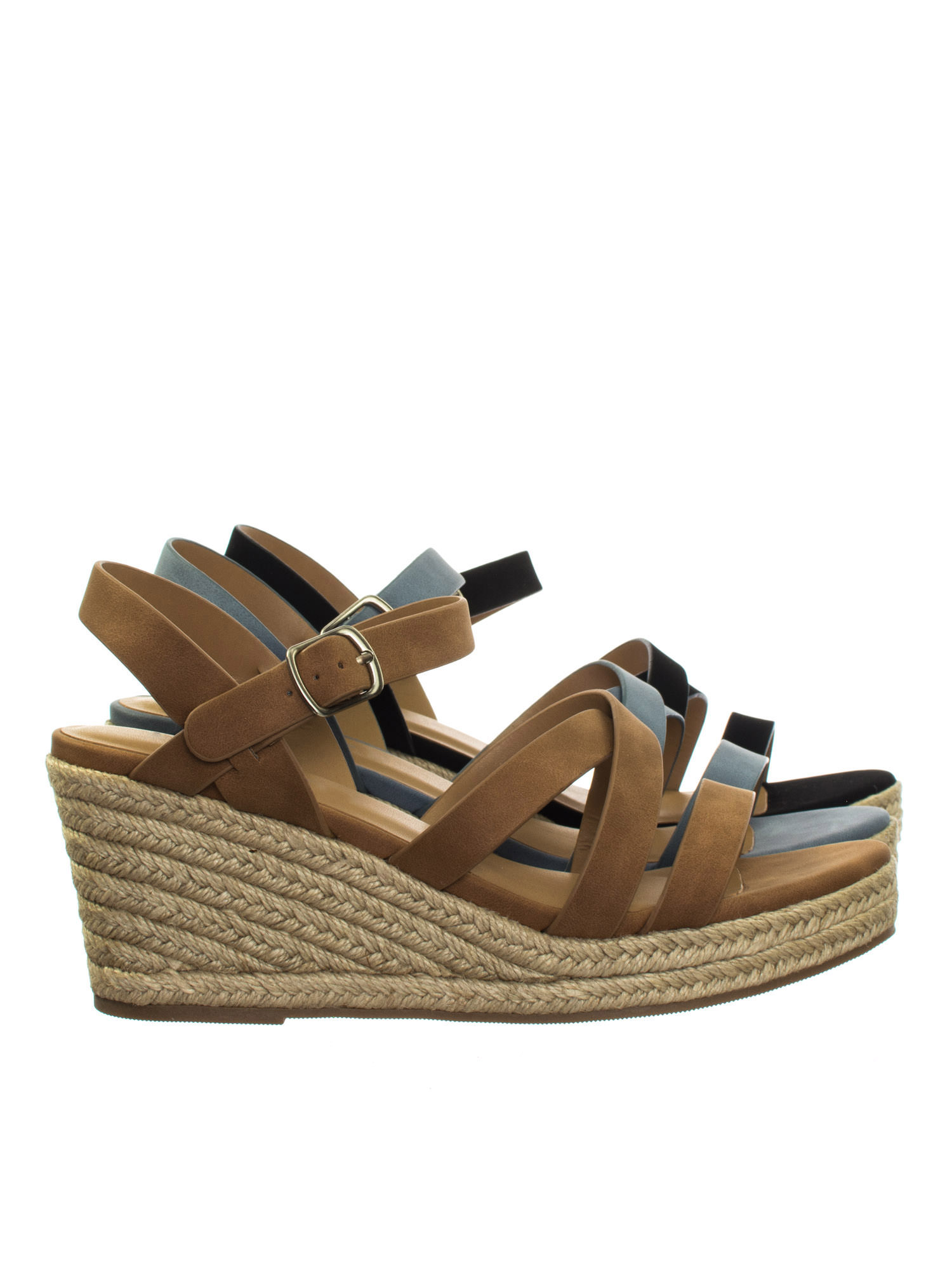 686993ed44ad Jubilee Tan Brown by City Classified Espadrille Rope Jute Wrap Platform  Wedge Open Toe Dress Sandal