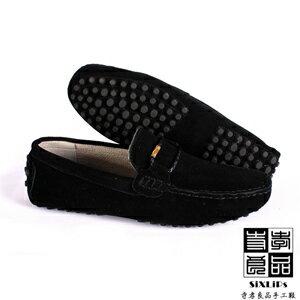 寺孝良品 義式雅痞編織麂皮豆豆鞋 黑 1