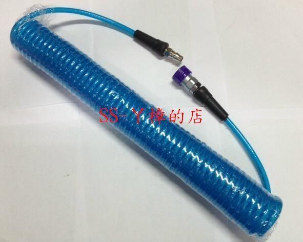 PU夾紗伸縮管附專業級鐵製快速接頭/風管/ 空壓管/ 5*8mm*12米-爆破壓力700PSI(含稅價)