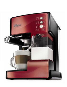 美國OSTER 奶泡大師義式咖啡機 BVSTEM6602R PRO升級版 紅色款 ◤贈咖啡豆◢